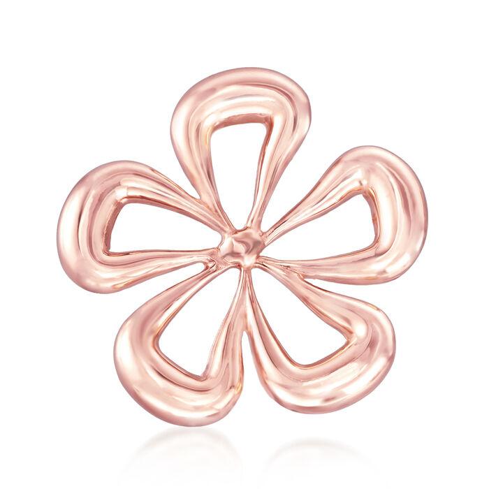 Italian 14kt Rose Gold Flower Pin, , default