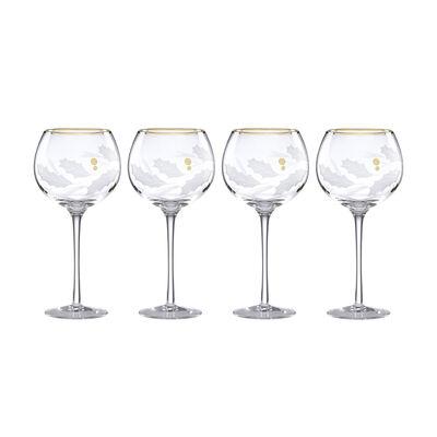 "Lenox ""Holiday"" Set of 4 Gold Balloon Glasses, , default"
