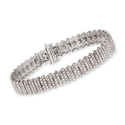 5.00 ct. t.w. Pave Diamond Multi-Bar Bracelet in 14kt White Gold, , default