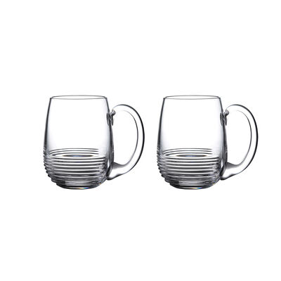 "Waterford Crystal ""Mixology Circon"" Set of 2 Tankard Glasses"
