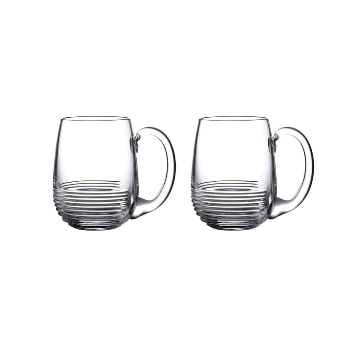 "Waterford Crystal ""Mixology Circon"" Set of 2 Tankard Glasses"