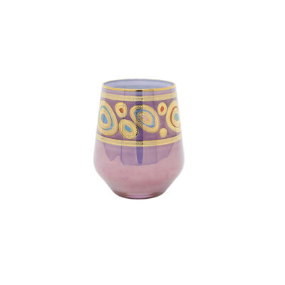 "Vietri ""Regalia"" Purple Stemless Wine Glass"
