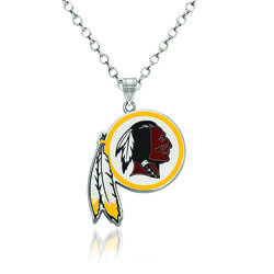 "Sterling Silver NFL Washington Redskins Enamel Pendant Necklace. 18"", , default"