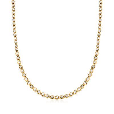 C. 1980 Vintage 6.60 ct. t.w. Diamond Line Necklace in 18kt Yellow Gold, , default