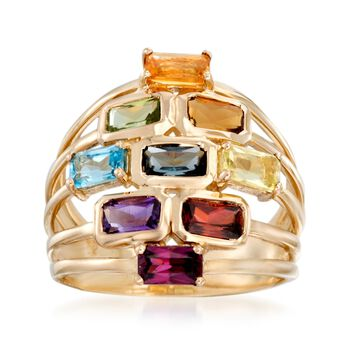 2.60 ct. t.w. Multi-Stone Ring in 14kt Yellow Gold, , default