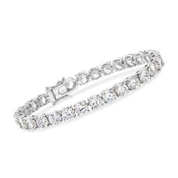 23.00 ct. t.w. CZ Tennis Bracelet in Sterling Silver, , default