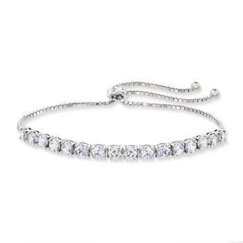 4.00 ct. t.w. CZ Bolo Bracelet in Sterling Silver, , default