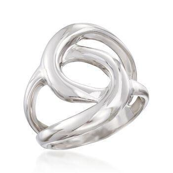 Sterling Silver Interlocking Swirls Ring, , default