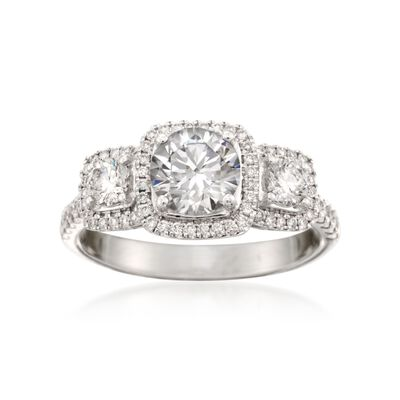 Simon G. .62 ct. t.w. Diamond Engagement Ring Setting in 18kt White Gold  , , default
