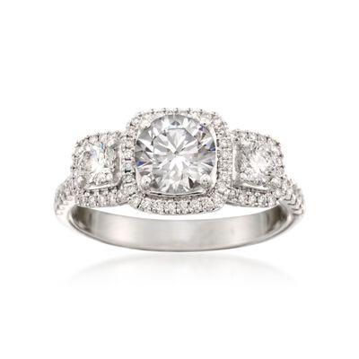 Simon G. .62 ct. t.w. Diamond Engagement Ring Setting in 18kt White Gold  , , default