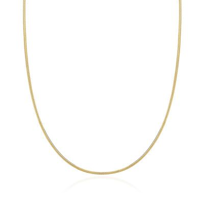 1.4mm 14kt Yellow Gold Snake Chain, , default