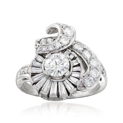 C. 1960 Vintage 1.80 ct. t.w. Diamond Cocktail Ring in Platinum, , default