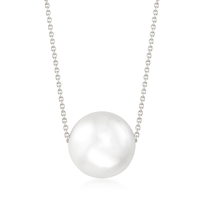 16mm Shell Pearl Necklace in Sterling Silver, , default