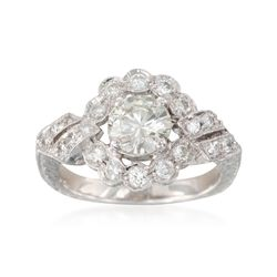 C. 2000 Vintage 1.45 ct. t.w. Diamond Ring in Platinum. Size 5.75, , default