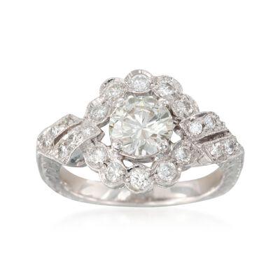 C. 2000 Vintage 1.45 ct. t.w. Diamond Ring in Platinum, , default