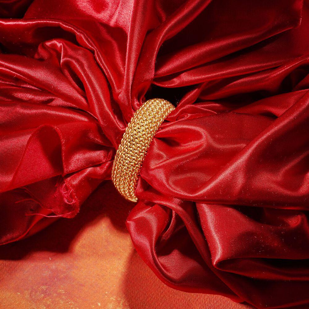 22kt Gold Platinum: Italian 22kt Gold Over Sterling Silver Riso Bracelet
