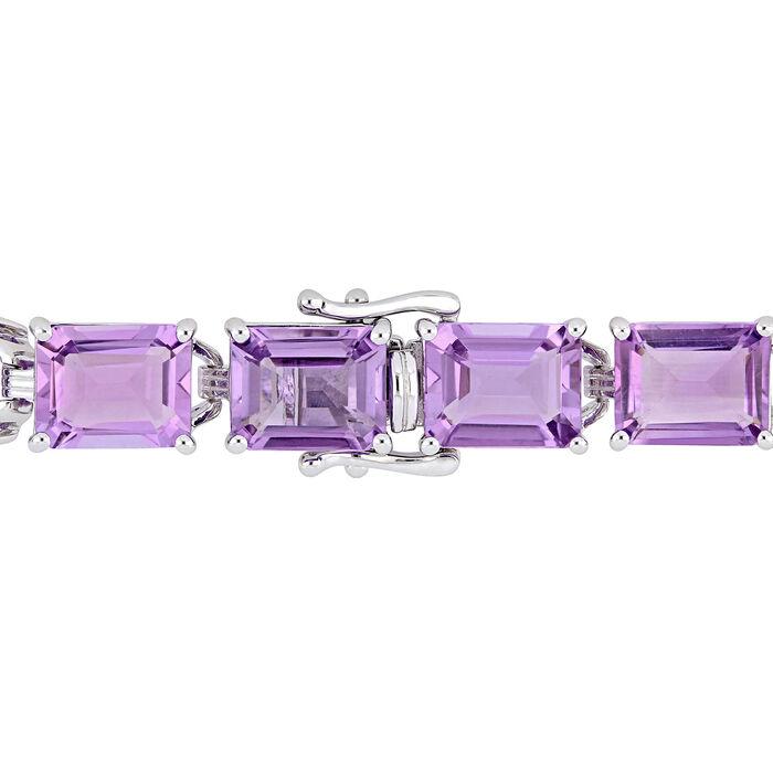 45.00 ct. t.w. Amethyst Bracelet in Sterling Silver