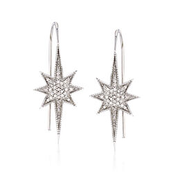 .35 ct. t.w. Diamond Star Earrings in Sterling Silver, , default
