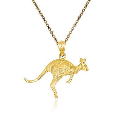 14kt Yellow Gold Kangaroo Pendant Necklace
