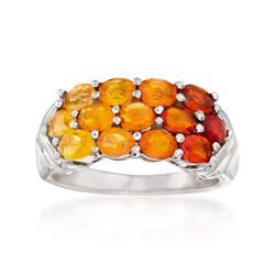 Fire Opal Ombre Ring in Sterling Silver, , default