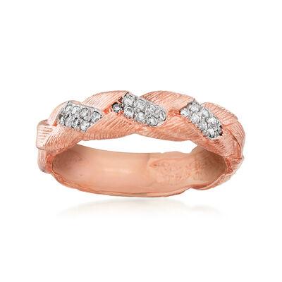 .12 ct. t.w. Diamond Braid Ring in 14kt Rose Gold, , default