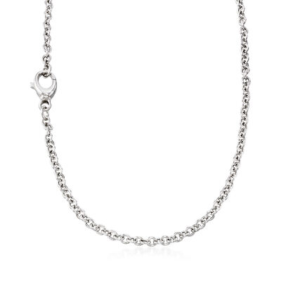 Italian Sterling Silver Cable Chain, , default