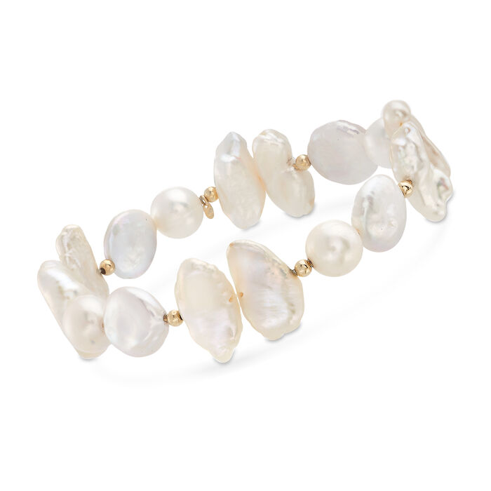 Multi-Style Cultured Pearl Bracelet in 14kt Yellow Gold, , default