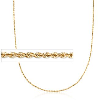 2.5mm 14kt Yellow Gold Rope Chain Necklace, , default