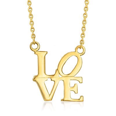 """14kt Yellow Gold """"Love"""" Necklace, , default"""