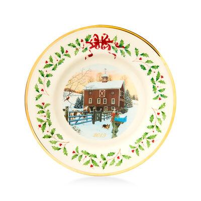 Lenox 2019 Annual Porcelain Christmas Plate - 29th Edition, , default