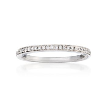 Henri Daussi .25 ct. t.w. Diamond Wedding Ring in 18kt White Gold, , default