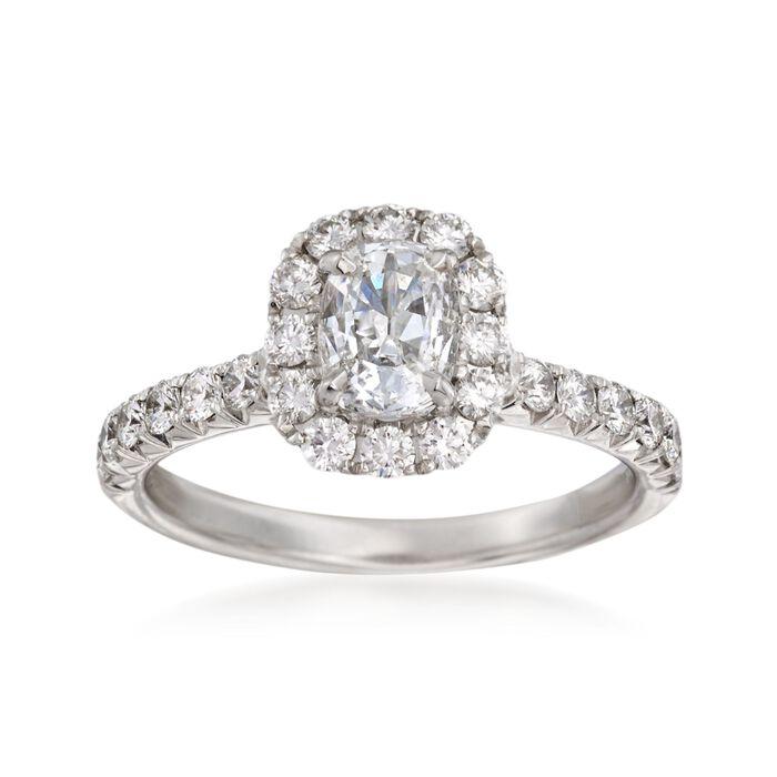 Henri Daussi 1.57 ct. t.w. Diamond Engagement Ring in 18kt White Gold, , default