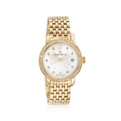 Giorgio Milano Women's 38mm Gold-Plated Stainless Steel Watch With Swarovski Crystals, , default