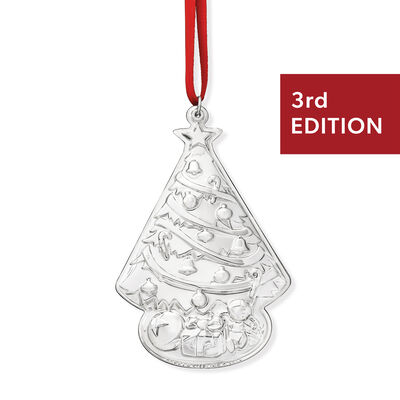 Gorham 2019 Annual Sterling Silver Christmas Tree Ornament - 3rd Edition, , default