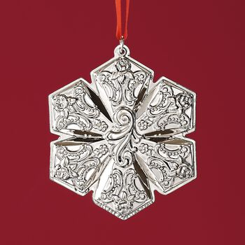 """Wallace 2018 Annual """"Grand Baroque"""" Sterling Silver Snowflake Ornament - 21st Edition, , default"""