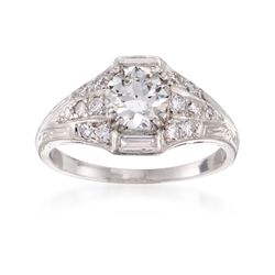 C. 2000 Vintage 1.43 ct. t.w. Certified Diamond Ring in Platinum, , default