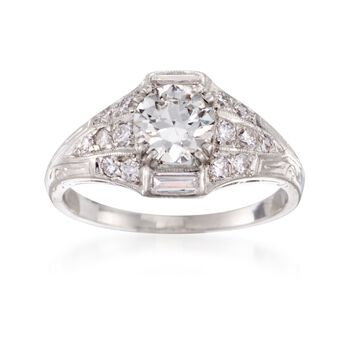 C. 2000 Vintage 1.43 ct. t.w. Certified Diamond Ring in Platinum. Size 8, , default