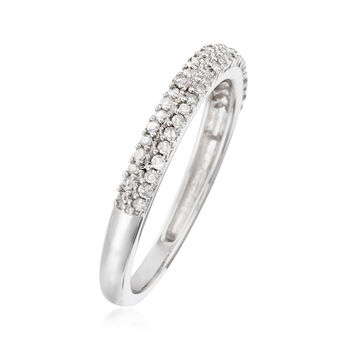 .25 ct. t.w. Diamond Ring in 14kt White Gold. Size 6