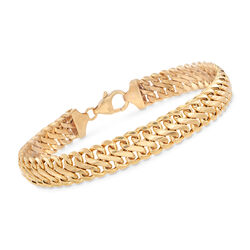 Italian Infinity-Link Bracelet in 14kt Yellow Gold, , default