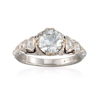 C. 2000 Vintage Gordon Clark 1.89 ct. t.w. Diamond Ring in 14kt White Gold. Size 6.5, , default