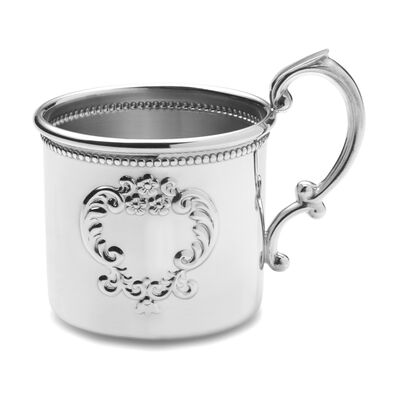 Empire Pewter Beaded Baby Cup, , default