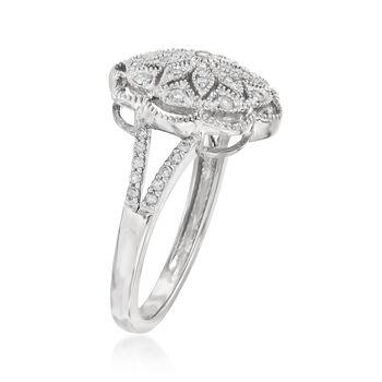 .25 ct. t.w. Diamond Openwork Flower Ring in Sterling Silver