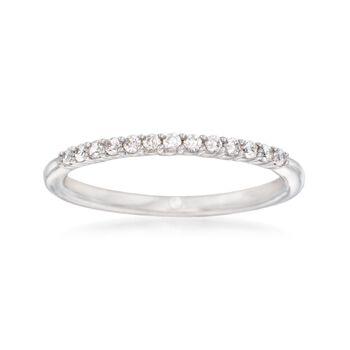 Gabriel Designs .16 ct. t.w. Diamond Wedding Ring in 14kt White Gold, , default
