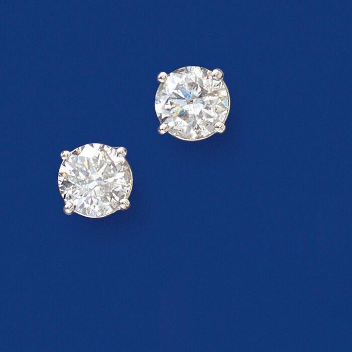 2.00 ct. t.w. Diamond Stud Earrings in Platinum