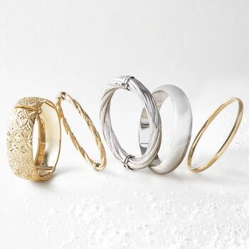 """Sterling Silver Wide Bangle Bracelet. 7"""", , default"""