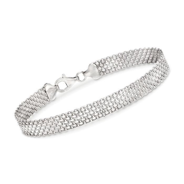 Sterling Silver Bismark-Link Bracelet