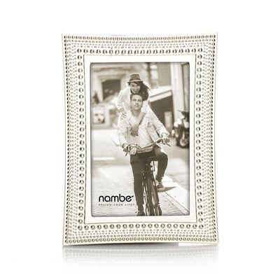 Nambe Beaded Silver Plate Frame, , default