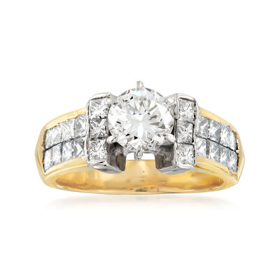 C. 1980 Vintage 2.00 ct. t.w. Diamond Ring in 18kt Yellow Gold, , default