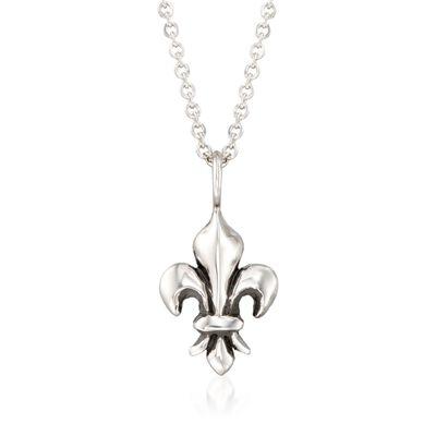 """Zina Sterling Silver """"Fleur De Lis"""" Pendant Necklace"""