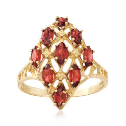 C. 1980 Vintage 1.80 ct. t.w. Garnet Cluster Ring in 14kt Yellow Gold, , default